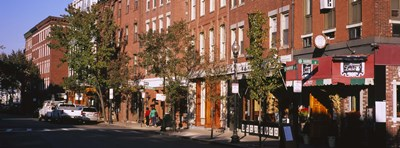 Stores along a street, North End, Boston, Massachusetts, USA Poster by Panoramic Images for $86.25 CAD