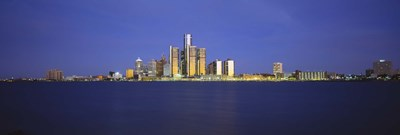 Detroit Waterfront Skyline Poster by Panoramic Images for $86.25 CAD