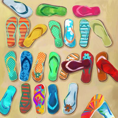 Flip Flops I Poster by Drako Fontaine for $35.00 CAD