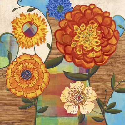 Funky Flowers Poster by Posters International Studio for $56.25 CAD