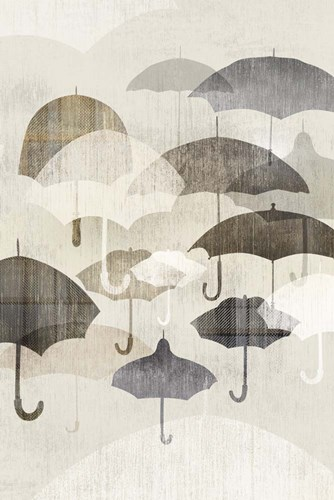 Umbrella Rain II Poster by Edward Selkirk for $43.75 CAD