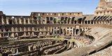 Interiors of an amphitheater, Coliseum, Rome, Lazio, Italy