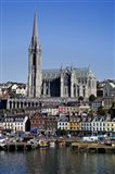 Immigrant Embarkation Harbour, Terraced Houses and St Colman's Cathedral, Cobh, County Cork, Ireland (vertical)