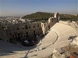 High angle view of an amphitheater, Odeon of Herodes Atticus, Acropolis, Athens, Attica, Greece