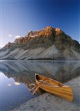 Canoe at the lakeside, Bow Lake, Alberta, Canada - your walls, your style!