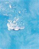 Bubbling water in blue water