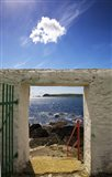 Doorway near Ballynacourty Lighthouse, With View To Helvick Head, County Waterford, Ireland