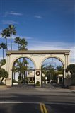 Entrance gate to a studio, Paramount Studios, Melrose Avenue, Hollywood, Los Angeles, California, USA