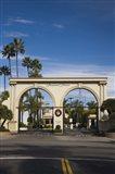 Entrance gate to a studio, Paramount Studios, Melrose Avenue, Hollywood, Los Angeles, California, USA