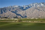 Golf course with mountain range, Desert Princess Country Club, Palm Springs, Riverside County, California, USA