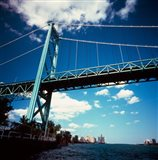 Ambassador Bridge, Detroit River, Michigan