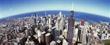 Sears Tower, Aerial View, Lake Michigan, Chicago, Illinois, USA