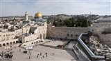 Tourists praying at the Wailing Wall in Jerusalem, Israel