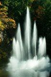 Waterfall in a garden, Butchart Gardens, Victoria, Vancouver Island, British Columbia, Canada