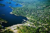 Aerial view of a bay, Gravenhurst Bay, Gravenhurst, Ontario, Canada - your walls, your style!