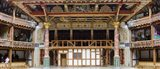 Interiors of a stage theater, Globe Theatre, London, England