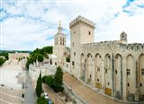 Buildings in a city, Cathedrale Notre-Dame des Doms d'Avignon, Palais des Papes, Provence-Alpes-Cote d'Azur, France
