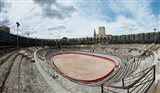 Ancient amphitheater in a city, Arles Amphitheatre, Arles, Bouches-Du-Rhone, Provence-Alpes-Cote d'Azur, France