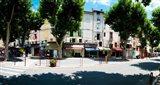 Stores closed during lunch hour along the Rue Du Marche, Riez, Alpes-de-Haute-Provence, Provence-Alpes-Cote d'Azur, France