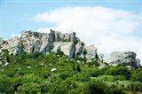 Low angle view of a ruined town on a rock outcrop, Les Baux-de-Provence, Bouches-Du-Rhone, Provence-Alpes-Cote d'Azur, France