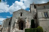 Facade of a church, Eglise Saint-Vincent, Les Baux-De-Provence, Bouches-Du-Rhone, Provence-Alpes-Cote d'Azur, France