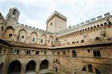 Courtyard of a palace, Palais des Papes, Avignon, Vaucluse, Provence-Alpes-Cote d'Azur, France