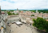 Aerial view of square named for John XXIII, Avignon, Vaucluse, Provence-Alpes-Cote d'Azur, France