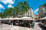 Tourists at sidewalk cafes, Place de l'Horloge, Avignon, Vaucluse, Provence-Alpes-Cote d'Azur, France