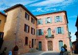 Facade of a building, Hotel de Ville, Roussillon, Vaucluse, Provence-Alpes-Cote d'Azur, France