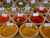 Colorful Spices for Sale in Arles, Bouches-Du-Rhone, Provence-Alpes-Cote d'Azur, France