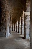 Columns of amphitheater, Arles Amphitheatre, Arles, Bouches-Du-Rhone, Provence-Alpes-Cote d'Azur, France
