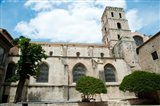Low angle view of a bell tower, Church Of St. Trophime, Arles, Bouches-Du-Rhone, Provence-Alpes-Cote d'Azur, France