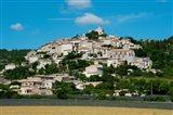 Town on a hill, D51, Sault, Vaucluse, Provence-Alpes-Cote d'Azur, France