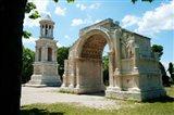 Roman mausoleum and triumphal arch at Glanum, St.-Remy-De-Provence, Bouches-Du-Rhone, Provence-Alpes-Cote d'Azur, France