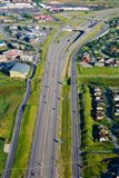 Aerial view of a highway passing through a town, Interstate 80, Park City, Utah, USA