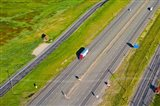 Traffic on highway, Interstate 80, Park City, Utah, USA