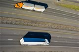 Trucks moving on a highway, Interstate 80, Park City, Utah, USA