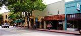 Stores at the roadside, Downtown San Luis Obispo, San Luis Obispo County, California, USA