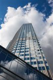 Low angle view of a tower, Willy-Brandt-Platz, European Central Bank, Frankfurt, Hesse, Germany