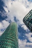 Low angle view of a tower, Westhafen Tower, Frankfurt, Hesse, Germany
