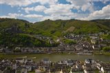 Town at the waterfront, Cochem, Mosel River, Rhineland-Palatinate, Germany