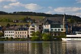 Houses at the waterfront, Traben-Trarbach, Bernkastel-Wittlich, Rhineland-Palatinate, Germany