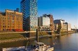 Buildings at the waterfront, Medienhafen, Dusseldorf, North Rhine Westphalia, Germany