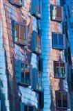 Low angle view of a building, Neuer Zollhof, Medienhafen, Dusseldorf, North Rhine Westphalia, Germany