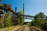 Railroad tracks passing through an old steel mill, North Duisburg Landscape Park, Ruhr, North Rhine Westphalia, Germany