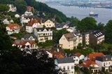 Houses in a town, Blankenese, Hamburg, Germany