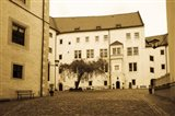 Facade of the castle site of famous WW2 prisoner of war camp, Colditz Castle, Colditz, Saxony, Germany