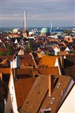 High angle view of buildings in a city, Nuremberg, Bavaria, Germany