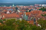 High angle view of buildings in a city, Bamberg, Bavaria, Germany