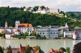 Town at the waterfront, Inn River, Passau, Bavaria, Germany